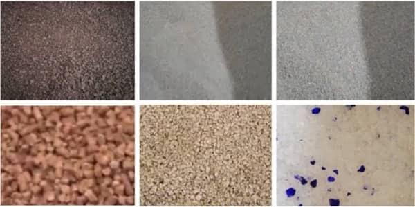 Tipos de arena aglomerante para gatos