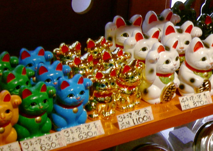 Maneki Neko de diferentes colores